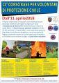 Volontari di Protezione civile, corso di formazione a Brugherio